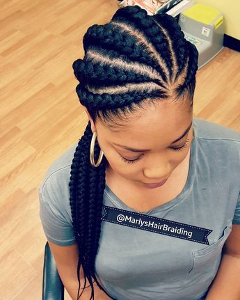 "Marlys natural hair braiding's Instagram post  ""80 9192715375 naturalhair protectivestyles neatbraids beautifulgirl blackhair powerfulwomen feedincornrows goddessbraids…"""