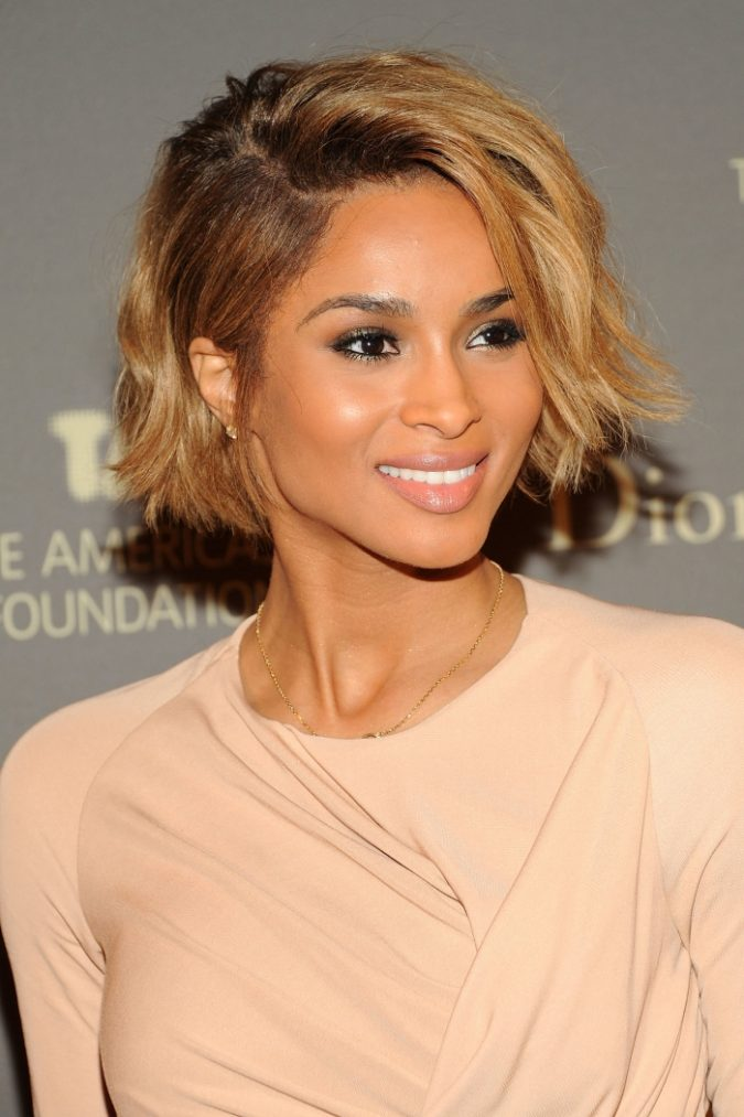 Messy Wavy short Bob Hairstyle for black women 675x1013 1