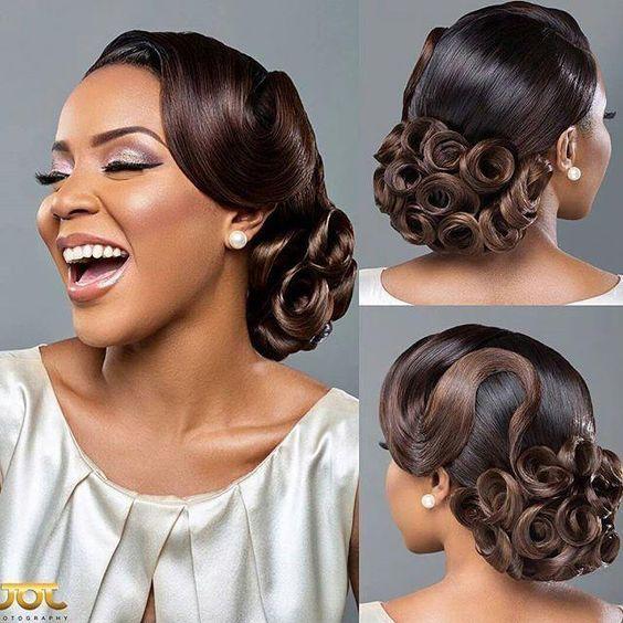 Stunning Hairstyles For Nigerian Brides this 2020 hairstyleforblackwomen.net 12