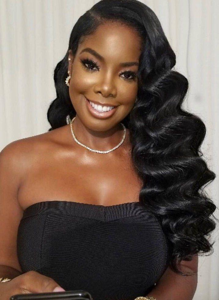 bridal hair black women