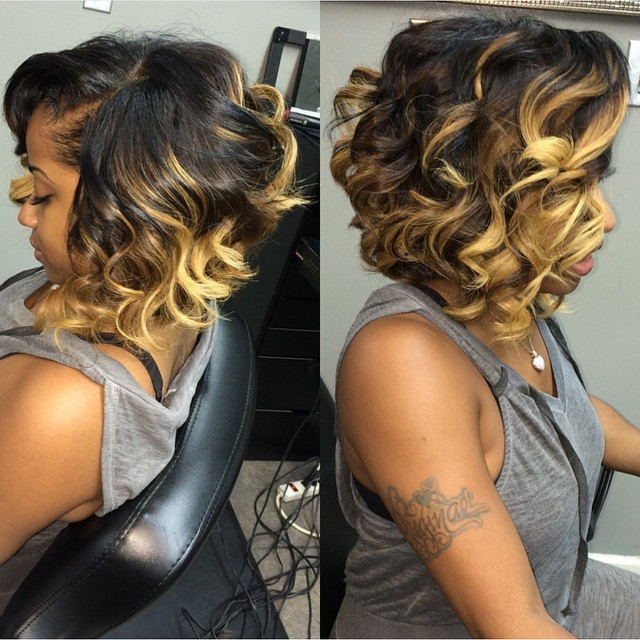 medium curly hairstyle for black women messy bob