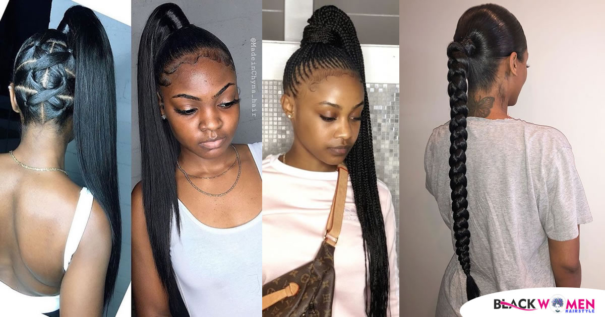 170 Cute Ponytail Hairstyles for black hair You Need to Try Today