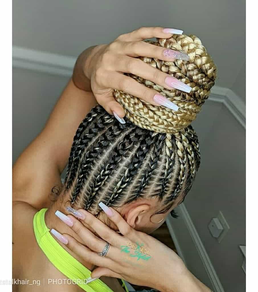 19 PHOTOS Splendid Box Braids For Ladies Black Braided Hairstyles 1