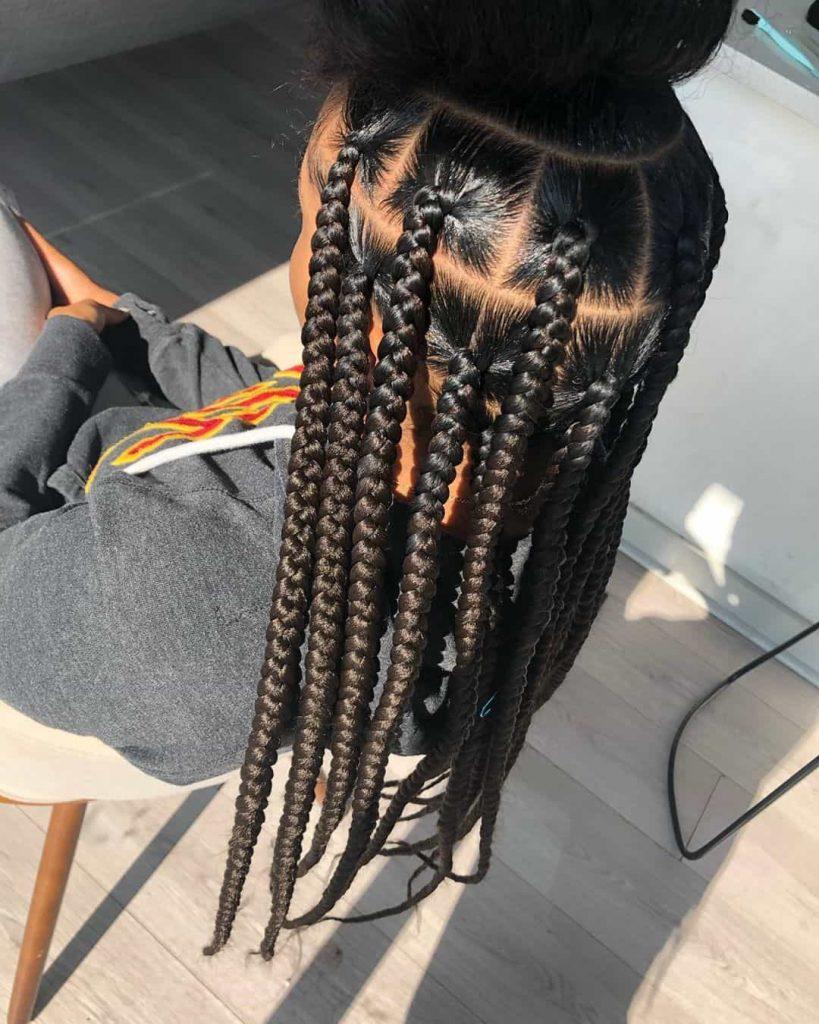 19 PHOTOS Splendid Box Braids For Ladies Black Braided Hairstyles 12 819x1024 1