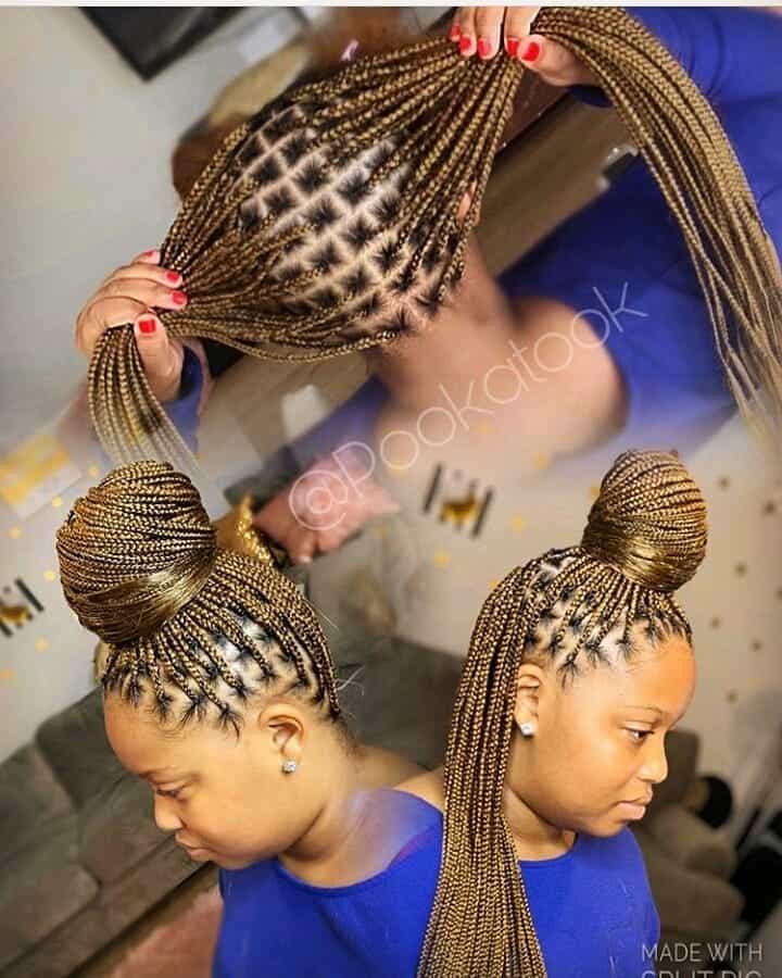 19 PHOTOS Splendid Box Braids For Ladies Black Braided Hairstyles 16