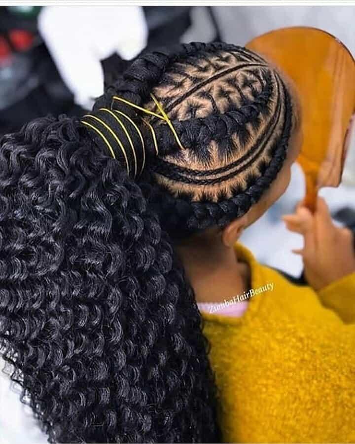 19 PHOTOS Splendid Box Braids For Ladies Black Braided Hairstyles 17