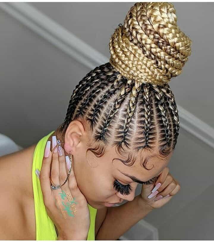 19 PHOTOS Splendid Box Braids For Ladies Black Braided Hairstyles 3