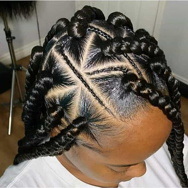 19 PHOTOS Splendid Box Braids For Ladies Black Braided Hairstyles 8