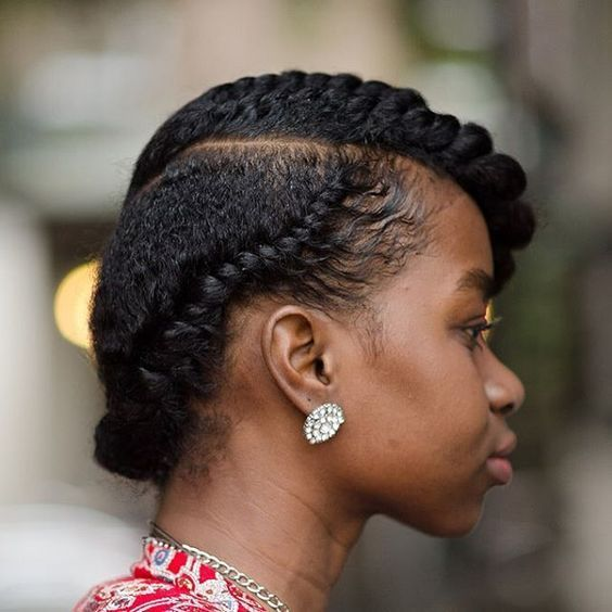 Flat Twist on Natural Hair