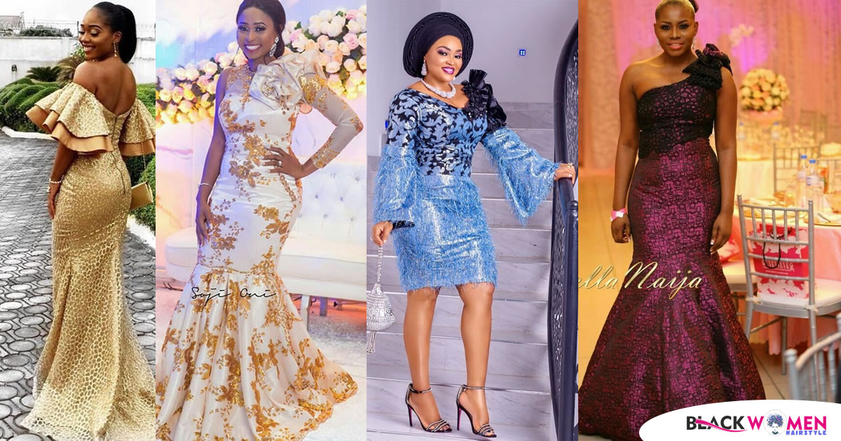 Latest 2021 Black Aso Ebi Gowns Perfect For Wedding Guests: Fashion and Styles for the Ladies