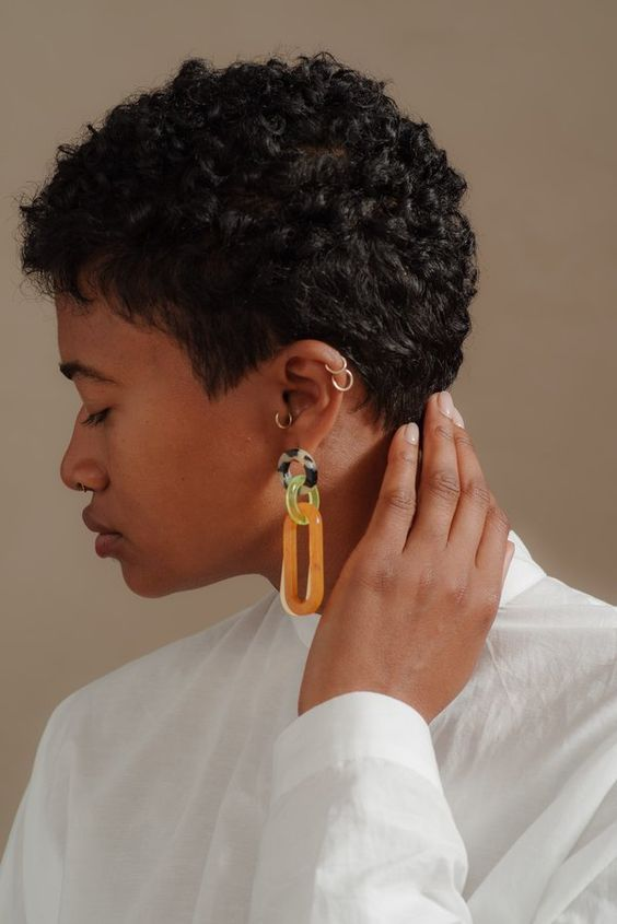 Rachel Comey MARBLE SOUR EARRNGS ORANGE