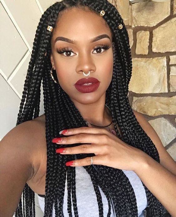 18 different ways to accessorize your box braids 2
