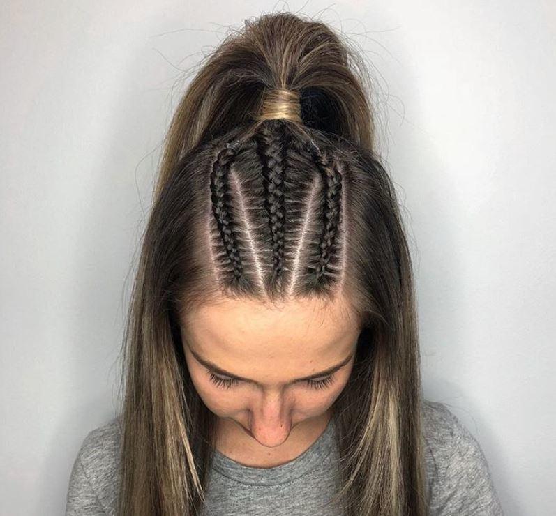 3 cornrow braids ig lavishhairbeautybar