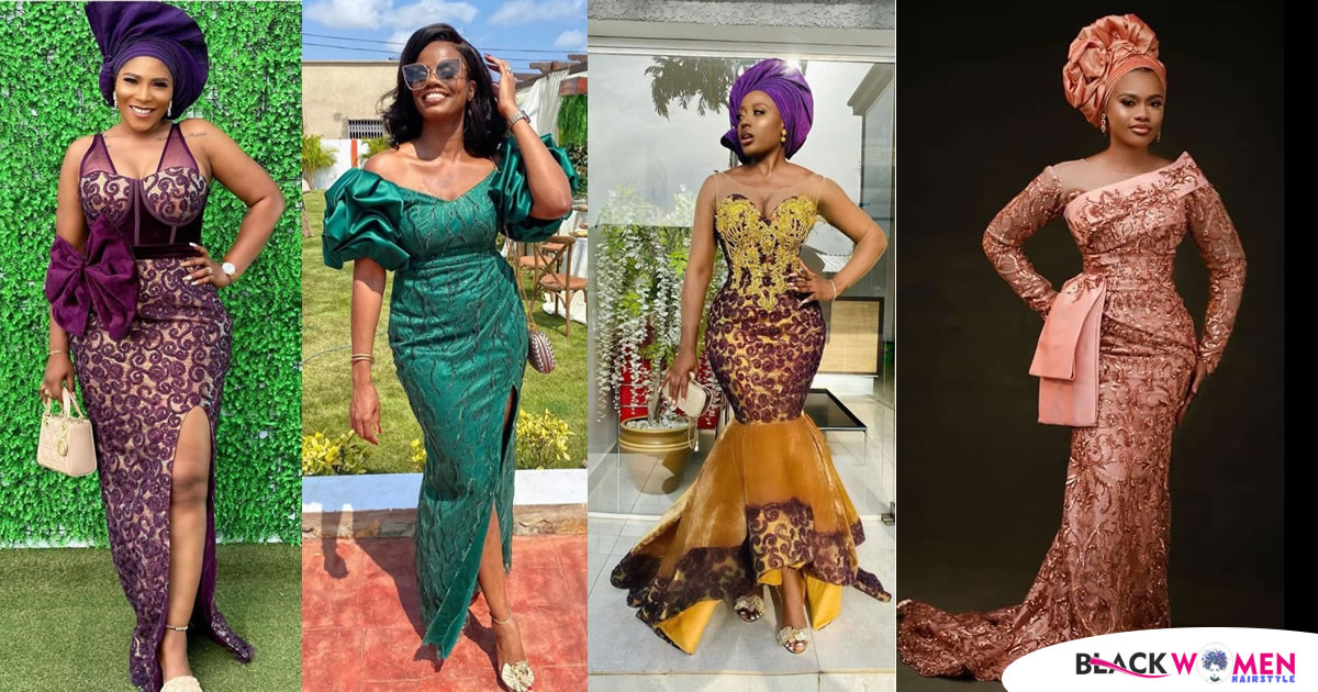 """40 Latest, Hot, and Trendy Aso-Ebi Collections for your next """"Owanbe"""" Party"""