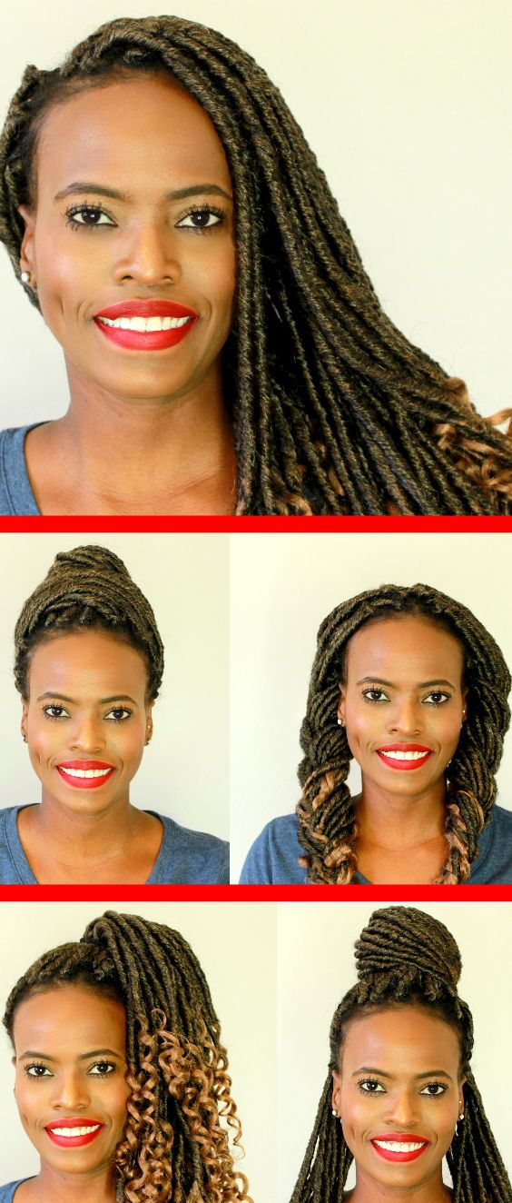 5 Ways To Style Faux Locs