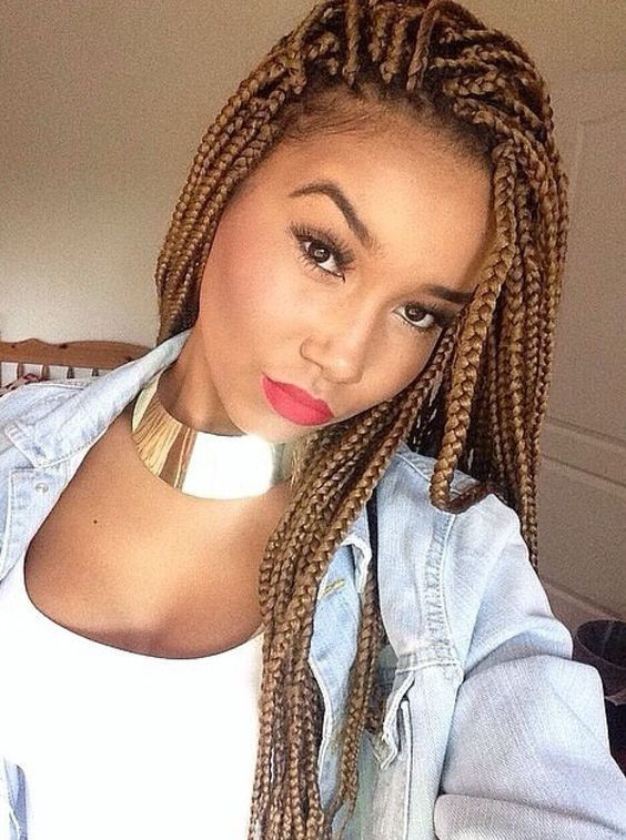 65 Box Braids Hairstyles for Black Women 2