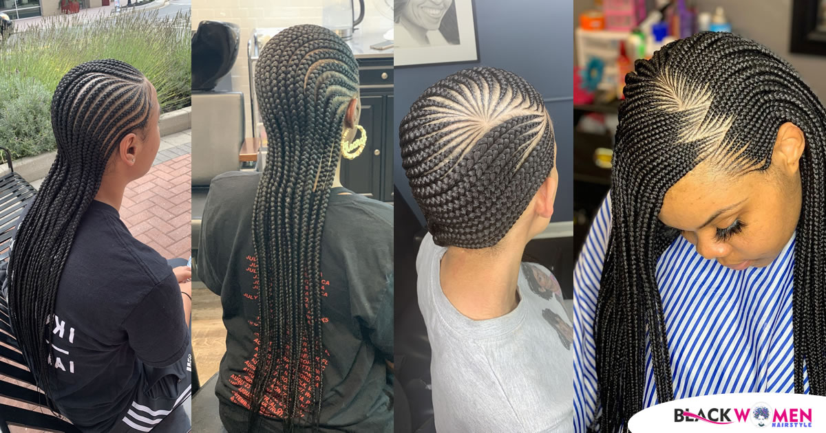 70 Lovely Ghana Weaving Styles | Add Vitality to Your Hair with Coconut and Clay