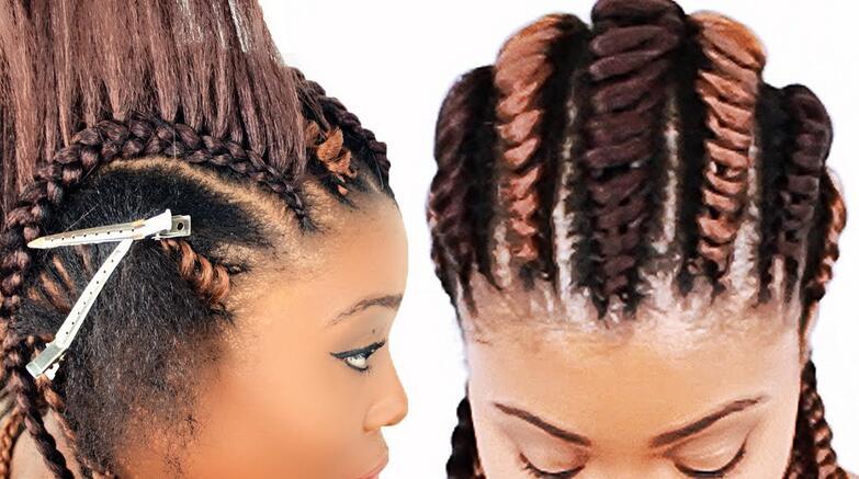 Cornrow tree braids
