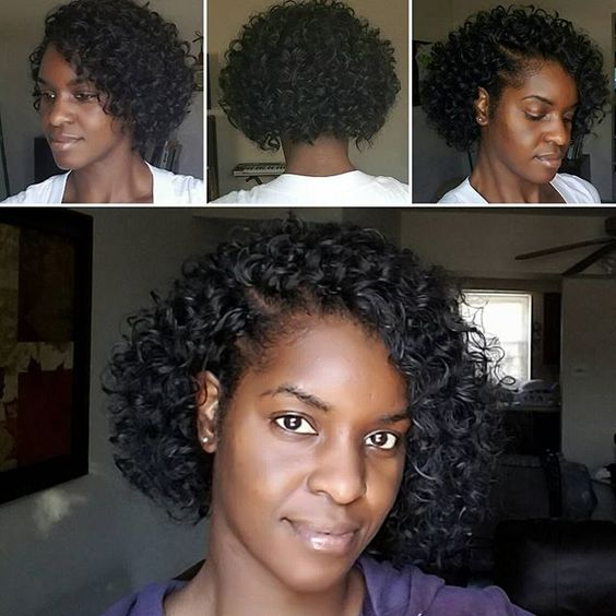 Curly bob tree braids