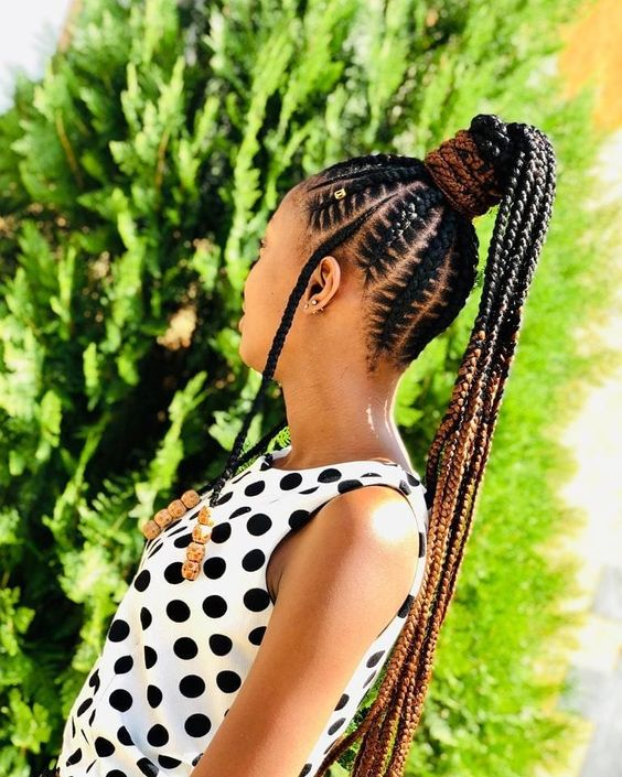 Cute Braided Ponytail Hairstyles for Black Hair That are Absolutely Cool 15