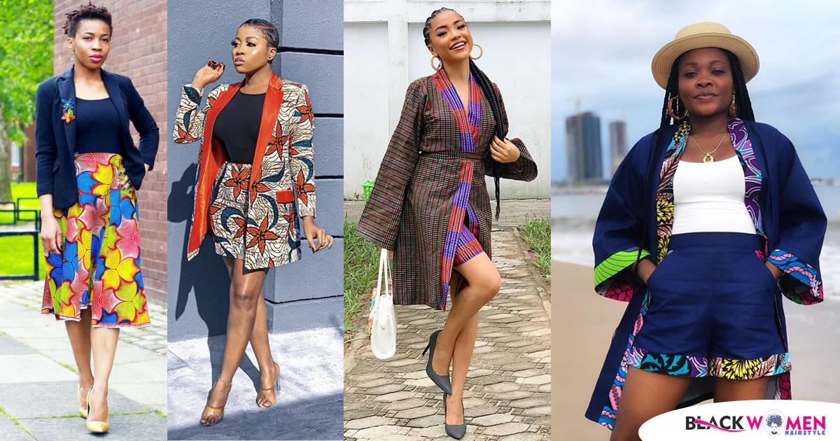 Fashionable, and Fabulous Ankara Kimono Jacket Styles for Ladies 2020