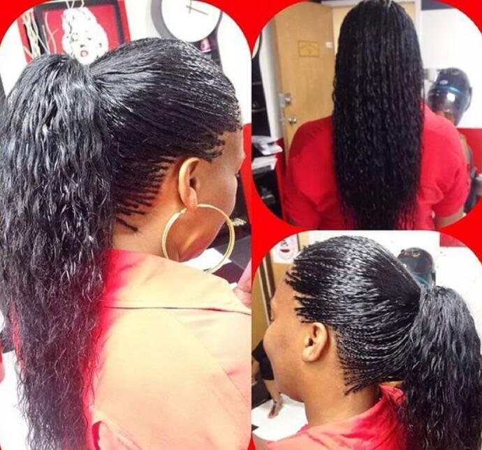 Ponytail with tree braids
