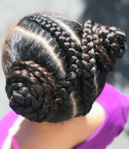 Side Buns with Braids