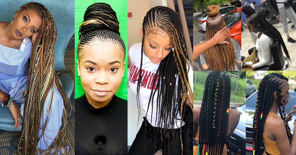 The Most Beautiful Hair Weaves Which Can Be Made on Sparse Hair (184 Ghana Braids)