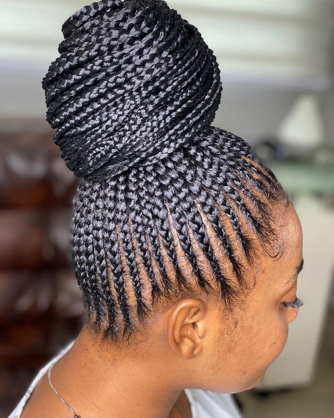 braided ponytail styles for black hair 1