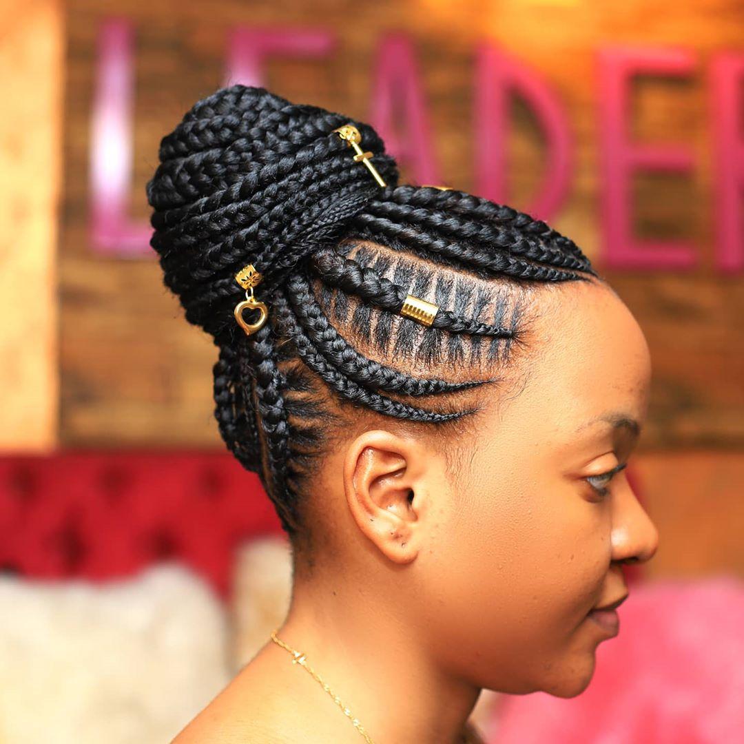 braided ponytail styles for black hair 10