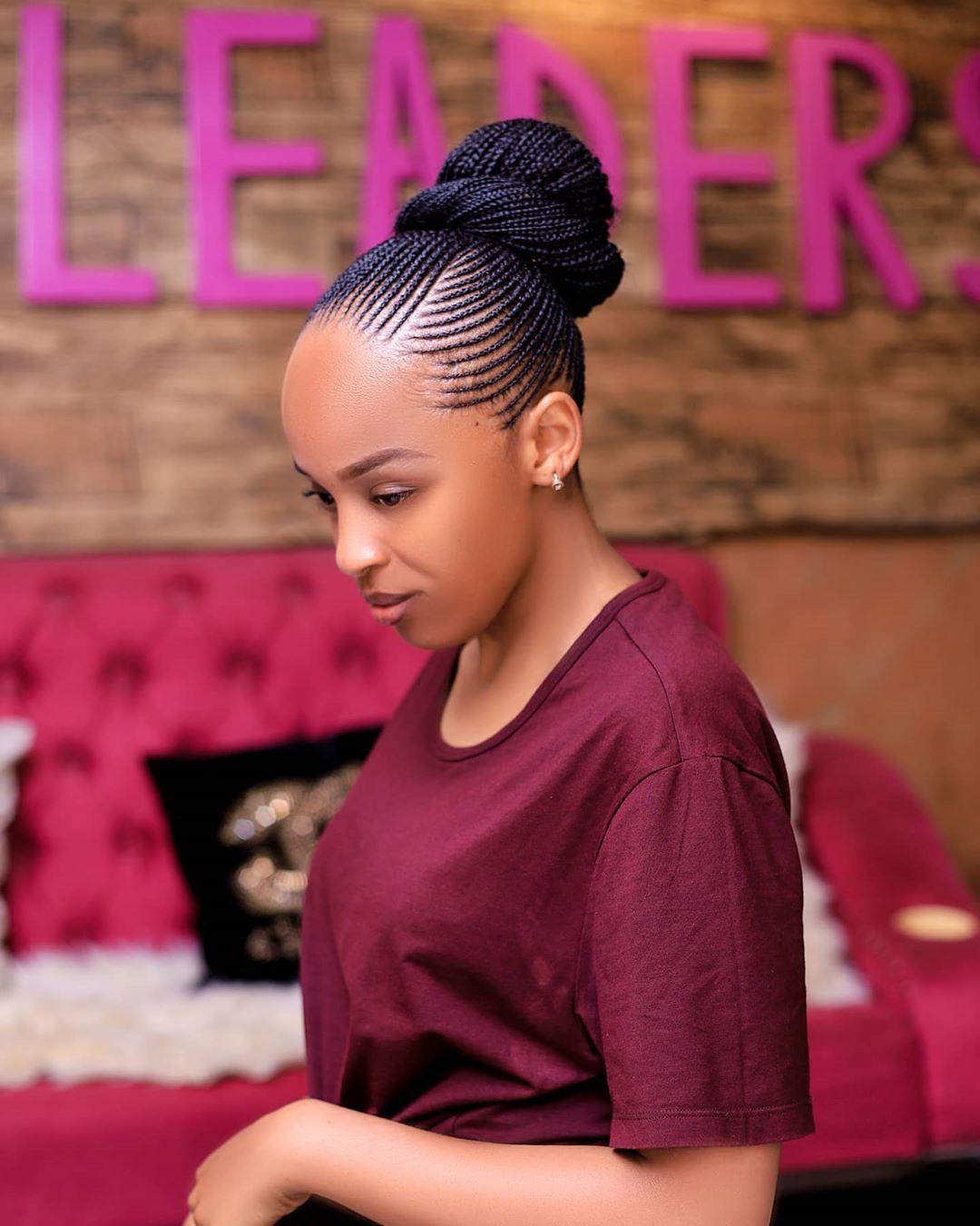 braided ponytail styles for black hair 11