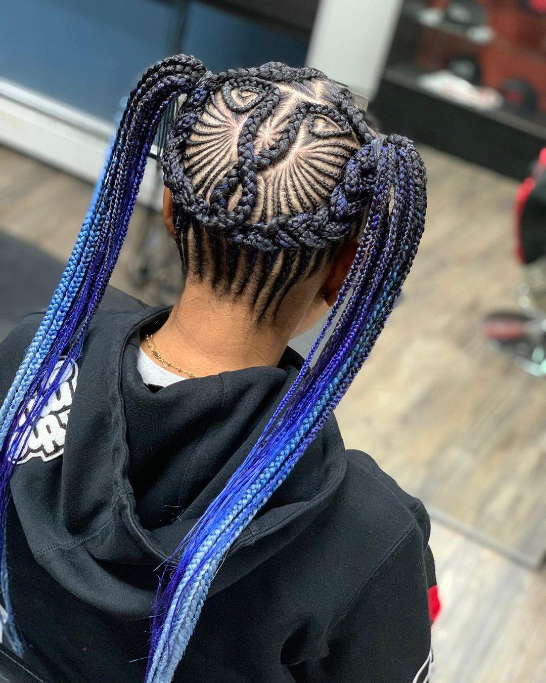 braided ponytail styles for black hair 13