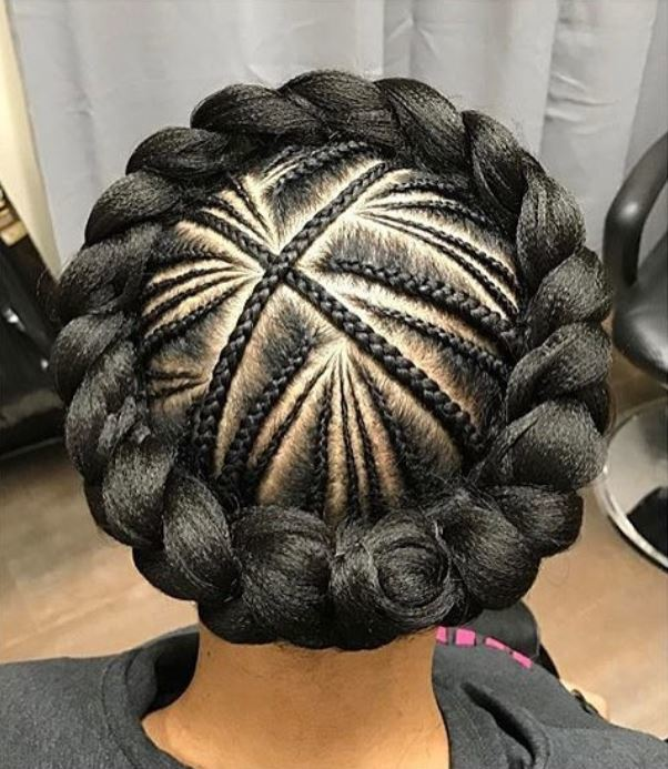 cornrow crown braid ig naturalhairdoescare