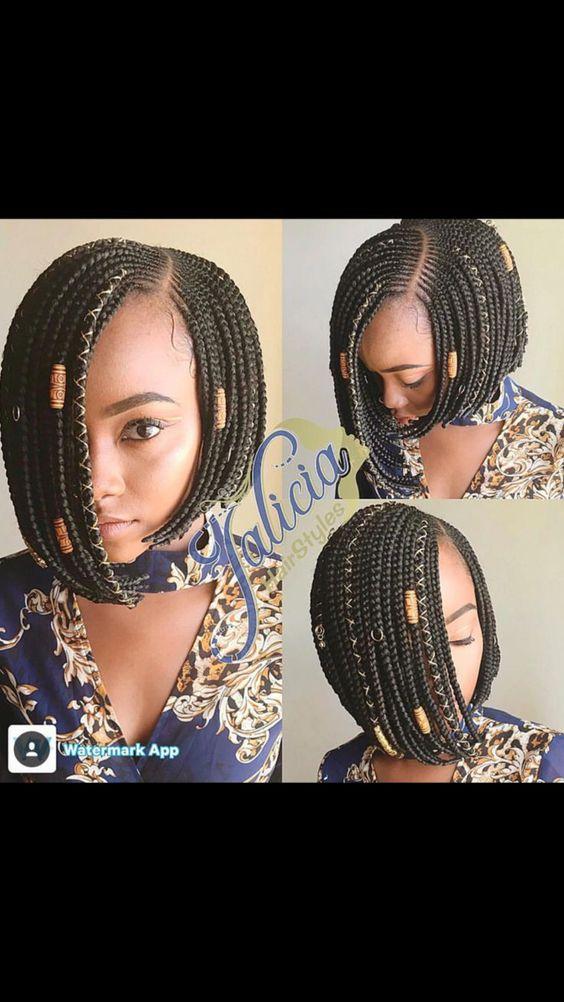 hair braiding bob ideas