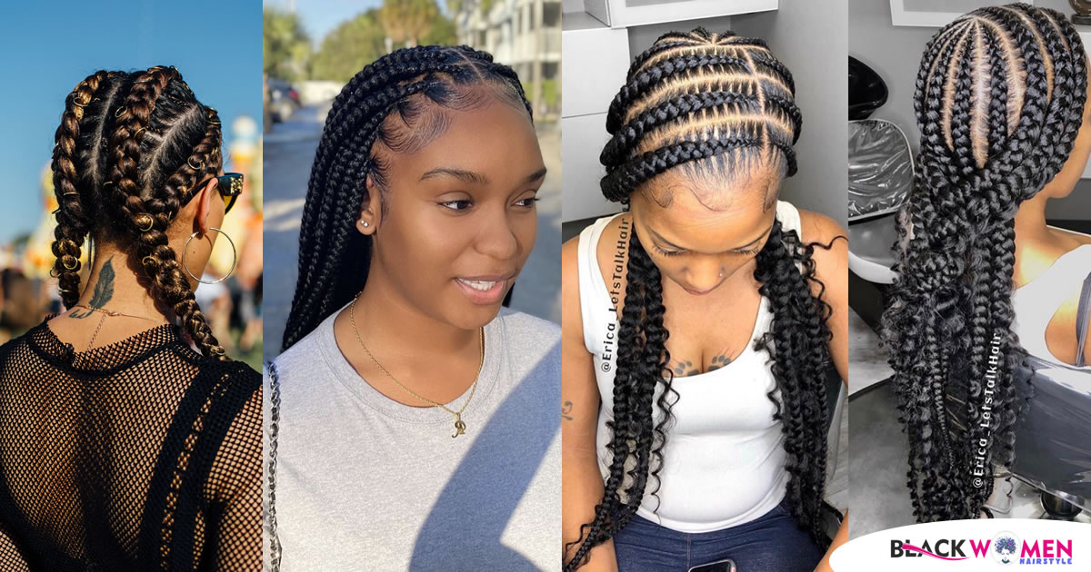 100 Wonderful Braided Hairstyles of 2020 | Amazing Braid Hairstyles For Black Women