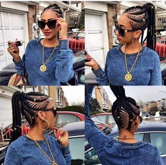 Great Ghana Weaving Hairstyles For African Ladies 5
