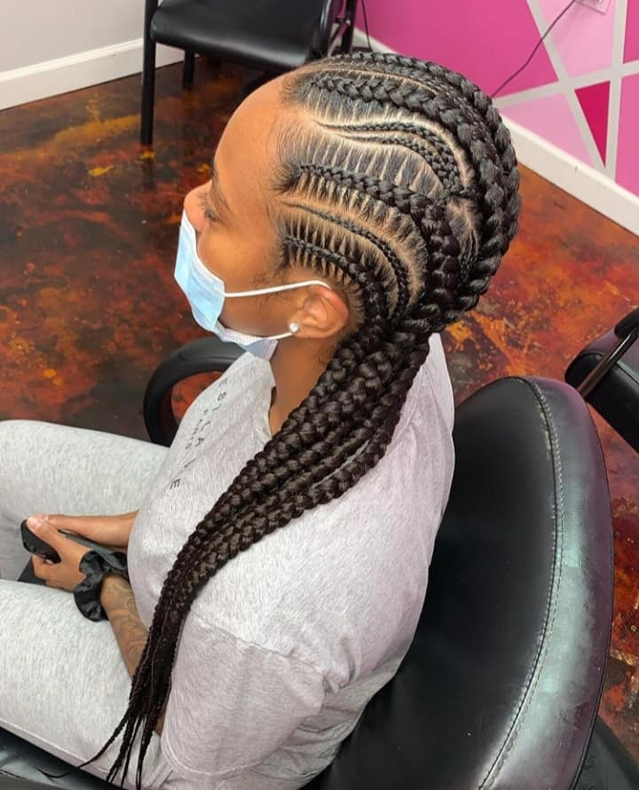 15 PHOTOS CharmingAdmirable Box Braids For Ladies Black Braided Hairstyles 10