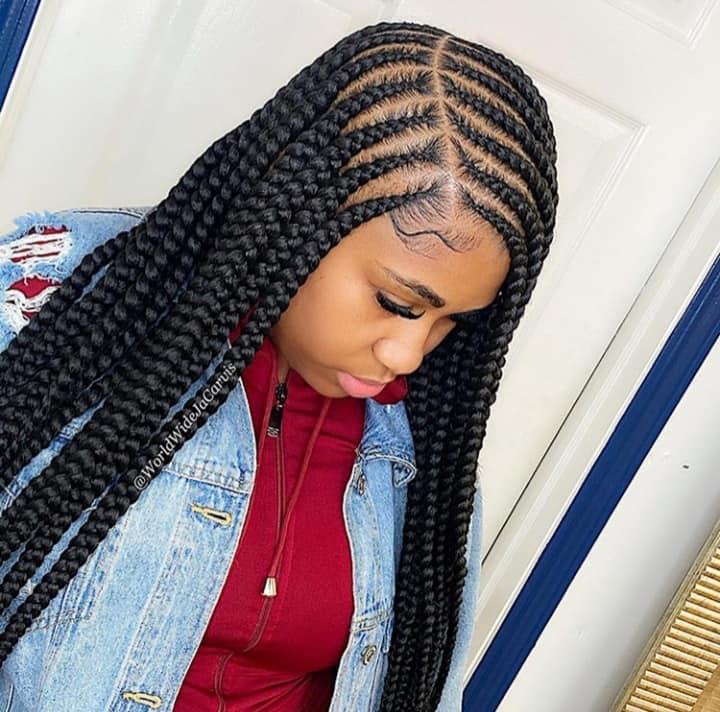 15 PHOTOS CharmingAdmirable Box Braids For Ladies Black Braided Hairstyles 11