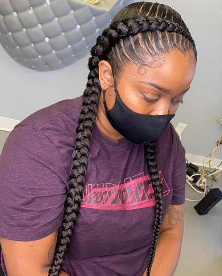 15 PHOTOS CharmingAdmirable Box Braids For Ladies Black Braided Hairstyles 6