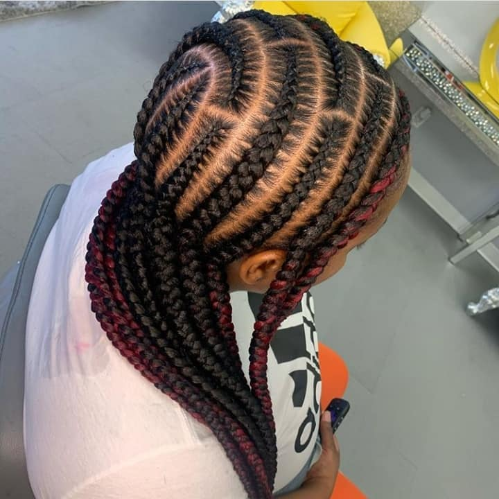 15 PHOTOS CharmingAdmirable Box Braids For Ladies Black Braided Hairstyles 7