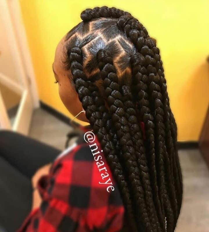 15 PHOTOS CharmingAdmirable Box Braids For Ladies Black Braided Hairstyles 8