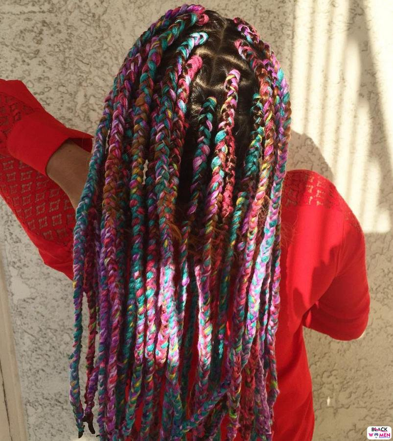 2 melange yarn braids