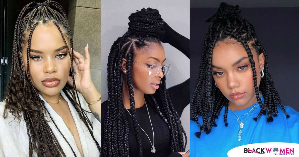 88 Box Braid Hairstyles Worth Trying In 2020