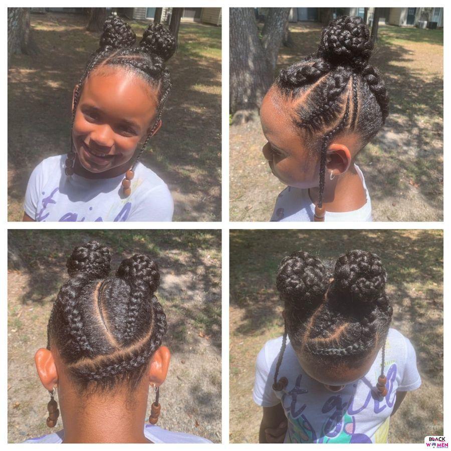 Kid hairstyles for natural hair Braids Cornrows 002