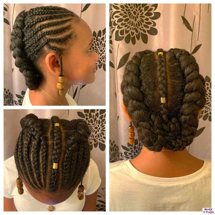 Kid hairstyles for natural hair Braids Cornrows 003