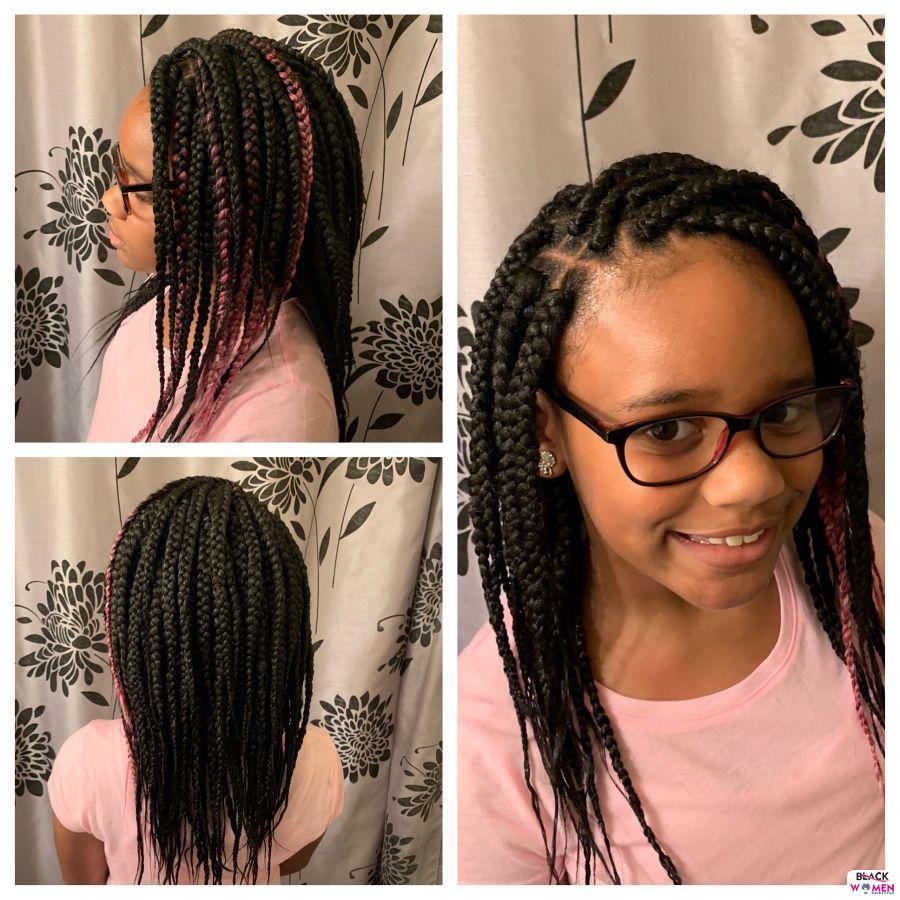 Kid hairstyles for natural hair Braids Cornrows 004