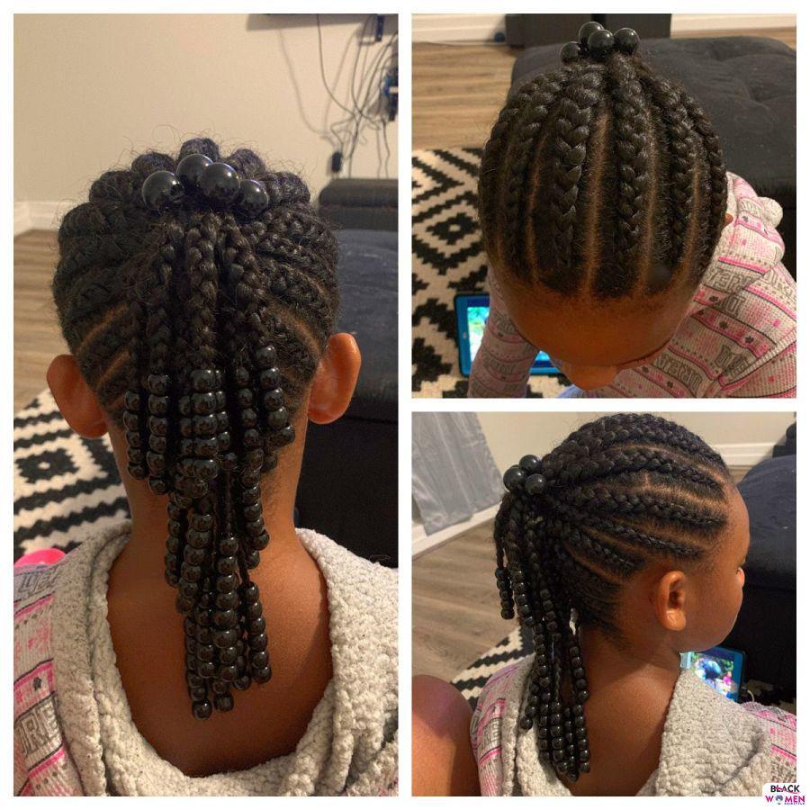 Kid hairstyles for natural hair Braids Cornrows 005