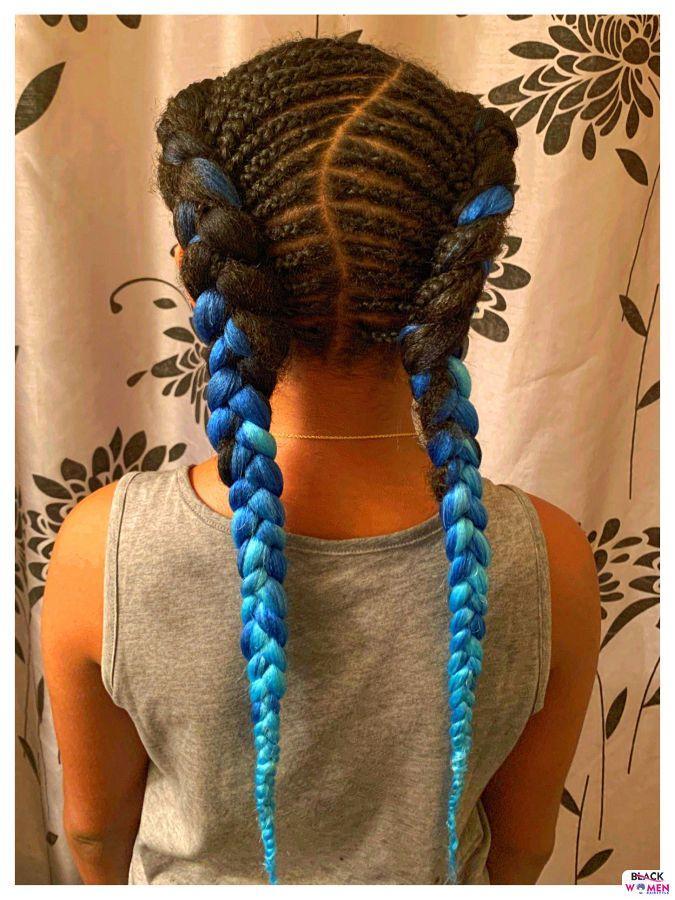 Kid hairstyles for natural hair Braids Cornrows 007