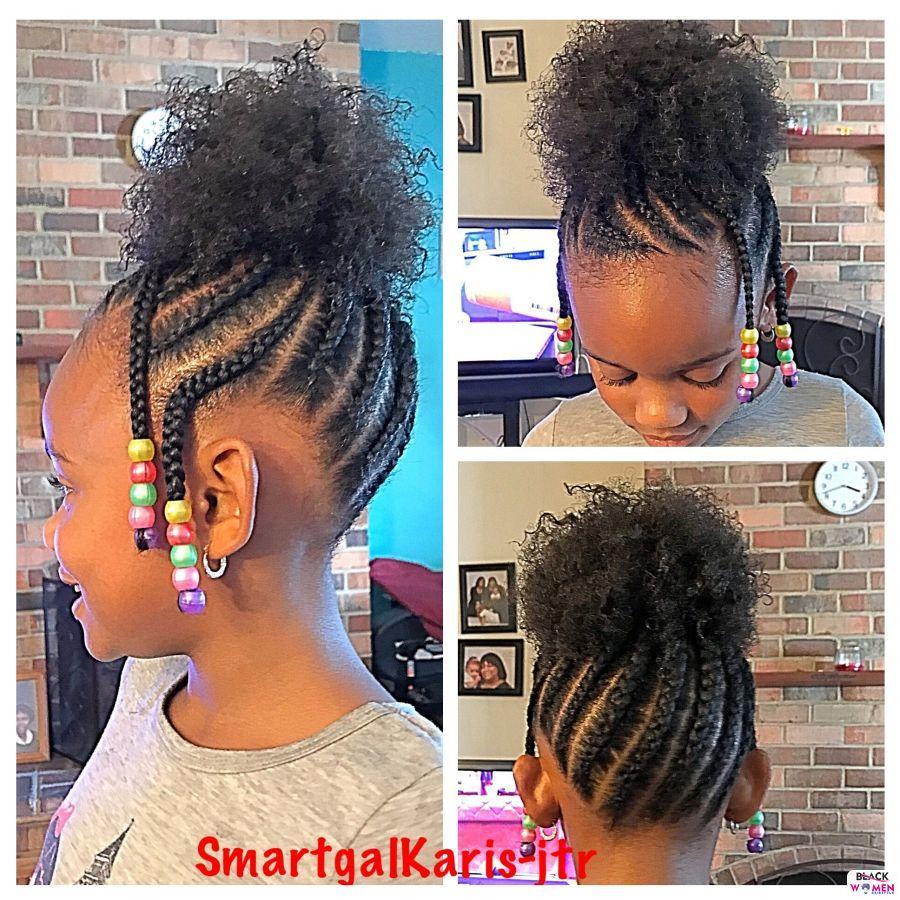 Kid hairstyles for natural hair Braids Cornrows 008