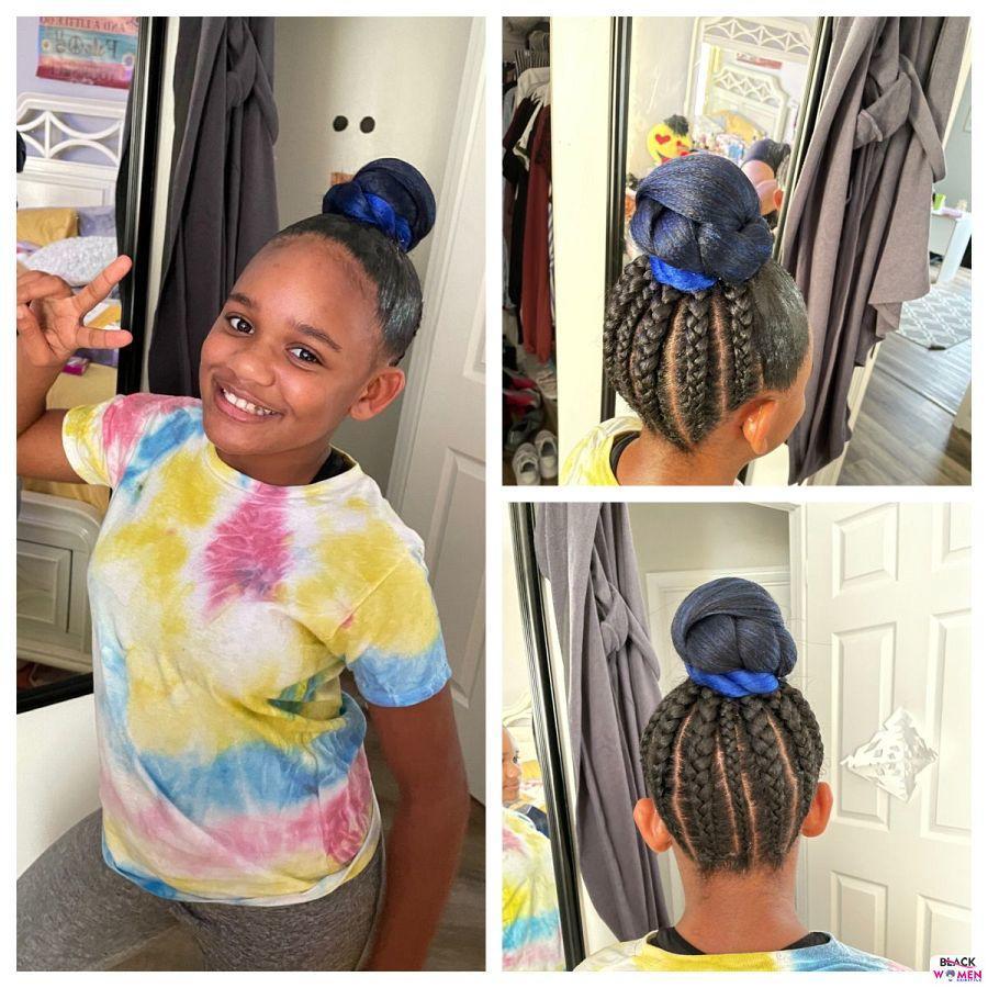 Kid hairstyles for natural hair Braids Cornrows 010
